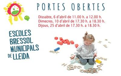 Jornada de Portes Obertes a les Escoles Bressol Municipals de Lleida