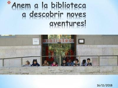 Anem a la biblioteca a descobrir noves aventures!