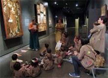 Visita al museu Diocesà per veure entre altres l'obra de Santa Eulàlia i Santa Madrona(protectores dels mariners)
