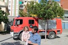 Visita dels bombers i policia