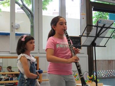 Concert de clarinet a l'escola