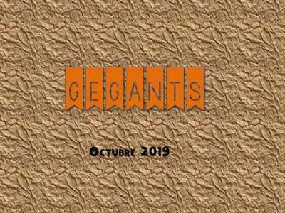 Activitats Gegants octubre