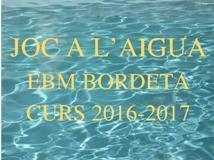 ACTIVITAT: Joc a l'aigua (curs 2016-2017)