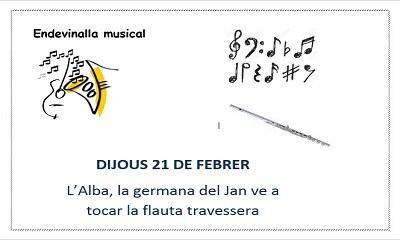 Endevinalla musical: la flauta travessera