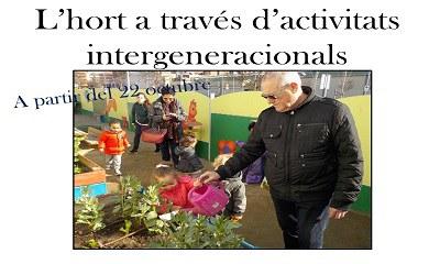Imatge del event L'hort a través d'activitats intergeneracionals