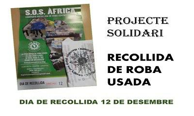 """Projecte solidari: """"Recollida de roba"""""""