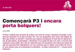 Imatge de la notícia Començarà P3 i encara porta bolquers! Article de Laura Lladós mestra de l'EBM Balàfia publicat a la revista Guix d'Infantil