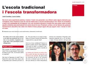 Imatge de la notícia L'escola tradicional i l'escola transformadora.